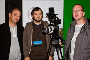 Niall with Paddy O'Shea & Declan Recks, Director at Studio 5108 Canon Masterclass